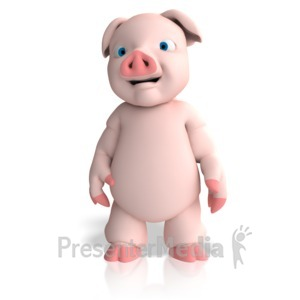 ID# 13034 - Pig Character - Presentation Clipart
