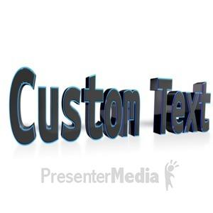 ID# 13069 - Custom Text - Presentation Clipart