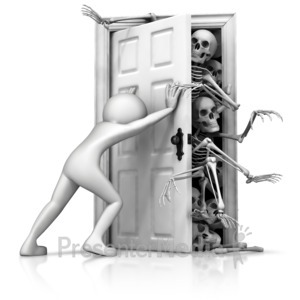 ID# 13092 - Skeletons In Your Closet - Presentation Clipart