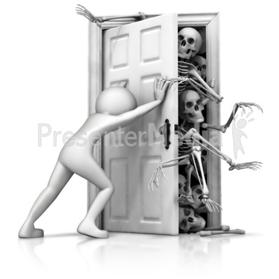 Skeletons In Your Closet PowerPoint Clip Art