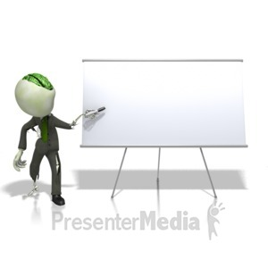 ID# 13094 - Zombie At A White Board - Presentation Clipart