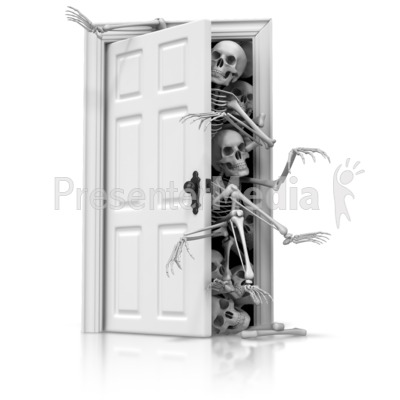 Skeletons In The Closet PowerPoint Clip Art