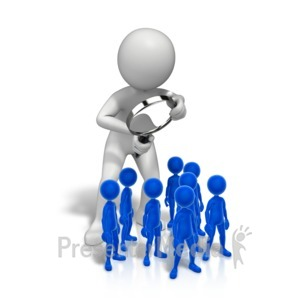 ID# 13103 - Look Closely People - Presentation Clipart