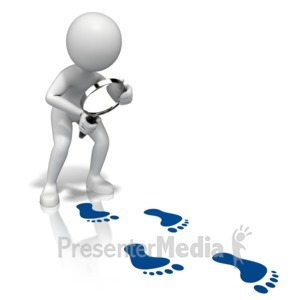 ID# 13111 - Look Closely Footprints - Presentation Clipart