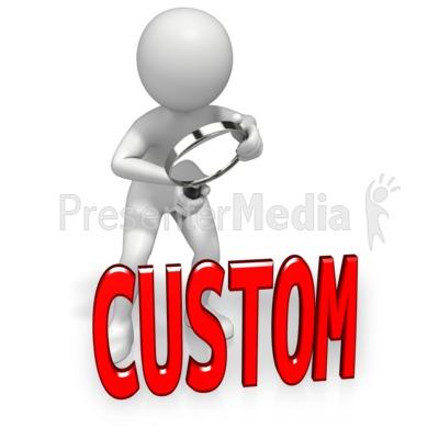 Look Closely Custom Text PowerPoint Clip Art