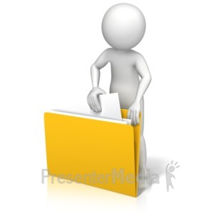 ID# 13119 - Figure Finding File - Presentation Clipart