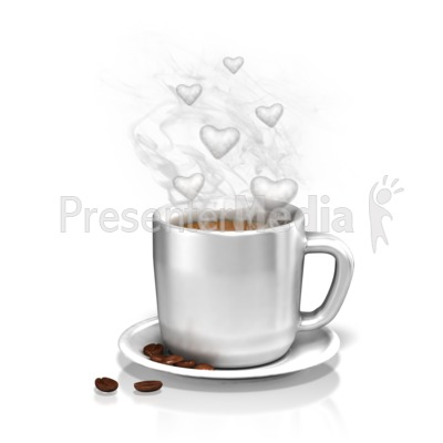 The Love of Coffee PowerPoint Clip Art