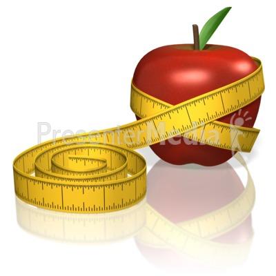 Apple Measure Tape PowerPoint Clip Art
