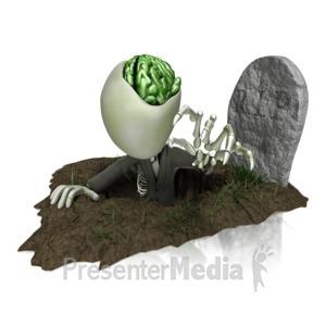 ID# 13133 - Zombie Grave - Presentation Clipart