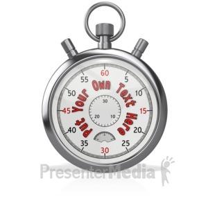 ID# 13160 - Custom Stopwatch Blank - Presentation Clipart