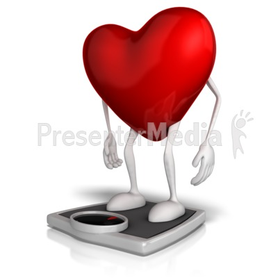 Heart On A Scale PowerPoint Clip Art