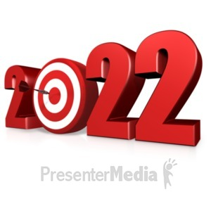 ID# 13194 - Custom Year Bullseye - Presentation Clipart