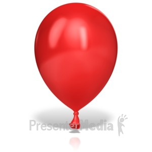 ID# 13198 - Single Large Balloon - Presentation Clipart