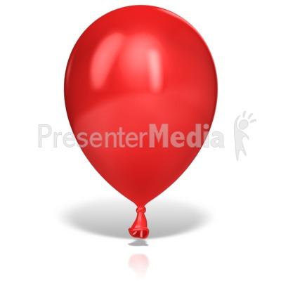 Single Large Balloon PowerPoint Clip Art