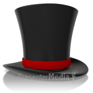 ID# 13200 - Top Hat - Presentation Clipart