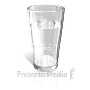 ID# 13218 - Glass of Water - Presentation Clipart