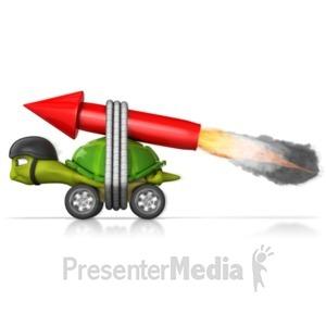 ID# 13232 - Speedy Turtle - Presentation Clipart