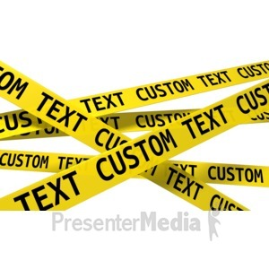 ID# 13265 - Custom Wall Of Crime Scene Tape - Presentation Clipart