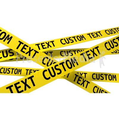 Custom Wall Of Crime Scene Tape PowerPoint Clip Art