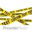 ID# 13265 - Custom Wall Of Crime Scene Tape - Presentation Clipart