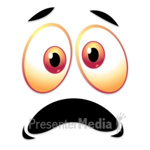 ID# 13266 - Crazy Scared Face - Presentation Clipart