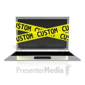 ID# 13269 - Custom Laptop Internet Safety - Presentation Clipart