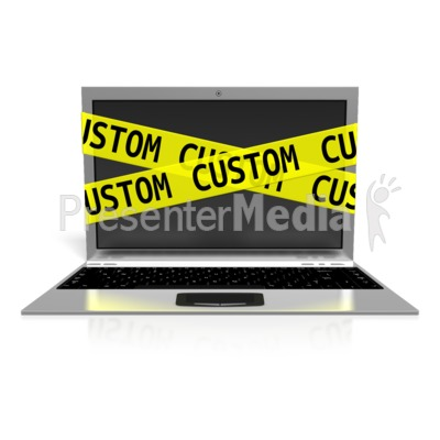 Custom Laptop Internet Safety PowerPoint Clip Art