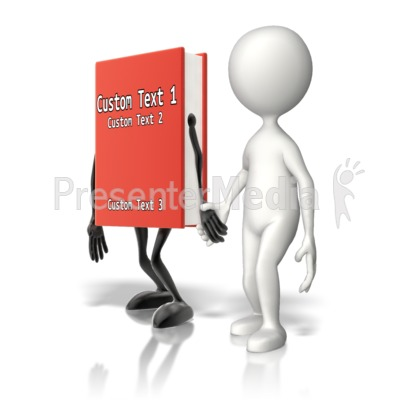 Custom Book Holding Hands Presentation clipart
