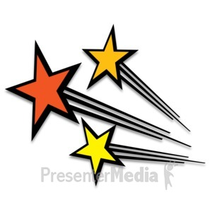 ID# 13284 - Shooting Stars - Presentation Clipart