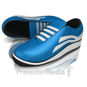 ID# 13294 - Pair Of Running Shoes - Presentation Clipart
