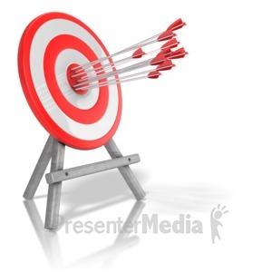 ID# 13302 - Arrow Target Accuracy - Presentation Clipart