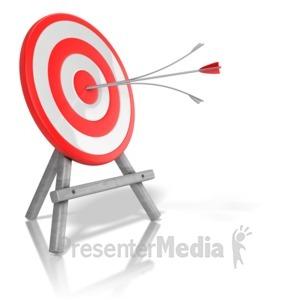 ID# 13305 - Arrow Target Split - Presentation Clipart