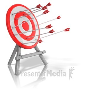 ID# 13306 - Arrow Target Inconsistency - Presentation Clipart