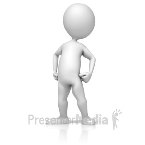 ID# 13310 - Figure Standing Proud - Presentation Clipart