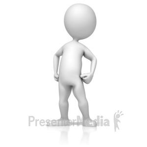 ID# 13310 - Figure Standing Proud - Presentation Clipart