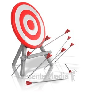 ID# 13346 - Arrows Missed Target - Presentation Clipart