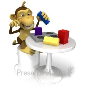 ID# 13347 - Monkey Testing Intelligence - Presentation Clipart