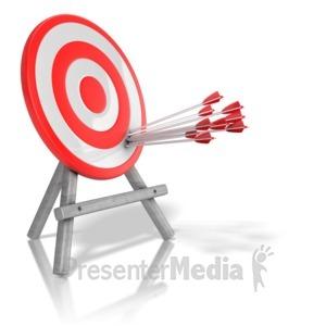ID# 13348 - Arrow Target Precision - Presentation Clipart