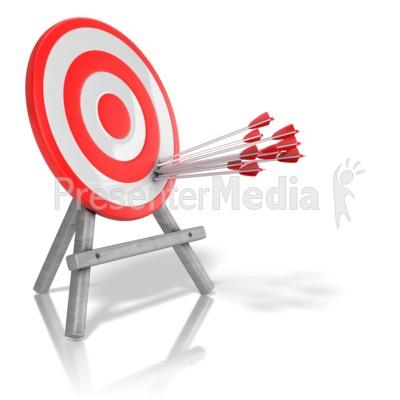 Arrow Target Precision PowerPoint Clip Art