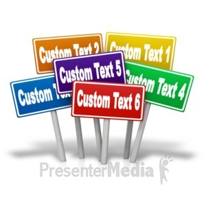 ID# 13406 - Multiple Signs Custom - Presentation Clipart
