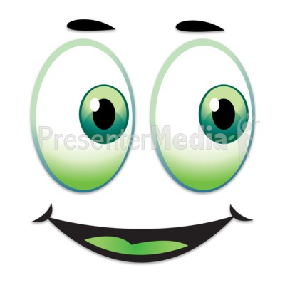 Happy Face Looking Over To Side PowerPoint Clip Art