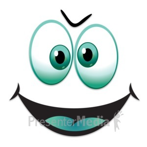 ID# 13432 - Silly Happy Face - Presentation Clipart
