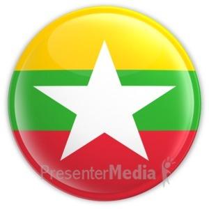 ID# 13438 - Myanmar Button - Presentation Clipart