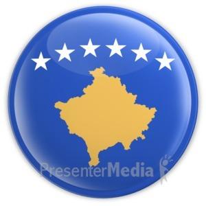 ID# 13439 - Kosovo Button - Presentation Clipart