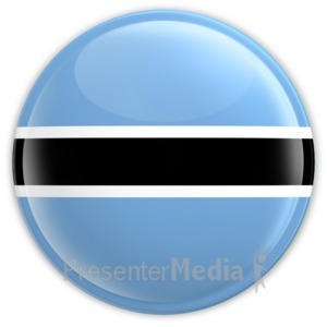 ID# 13440 - Botswana Button - Presentation Clipart
