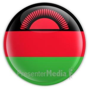 ID# 13442 - Malawi Button - Presentation Clipart