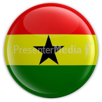 Ghana Button PowerPoint Clip Art