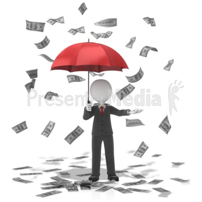 Business Figure Money Falling PowerPoint Clip Art