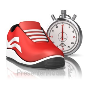 ID# 13446 - Running Stop Watch - Presentation Clipart