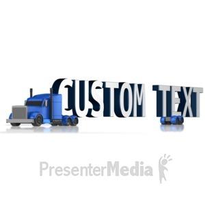 ID# 13447 - Custom Text Semi - Presentation Clipart